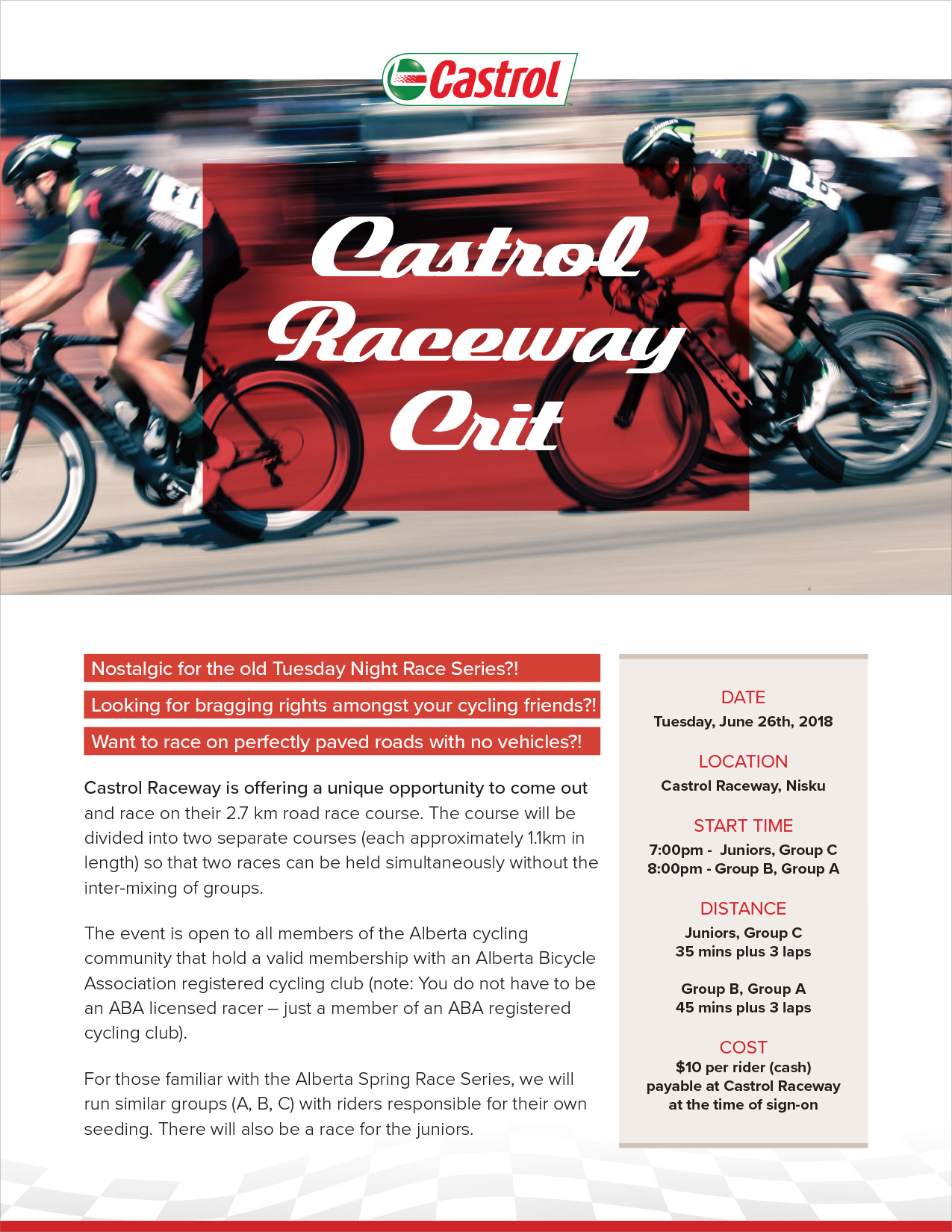 Criterium Racing at Castrol Raceway