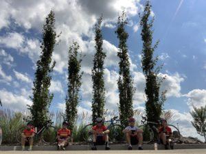 4 velocity riders sitting down
